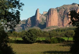 A view of Riglos in the province of Huesca.