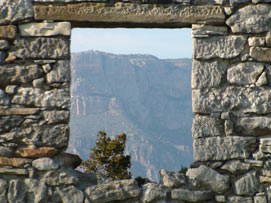 Mont-roig through the window.