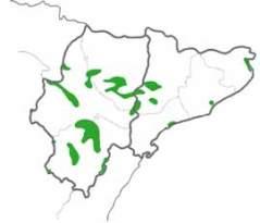 Distribution map of Great Spotted Cuckoo, Clamator glandarius