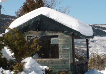 Villa hide in the snow