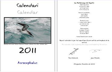 2011 birding calendar from Catalonia