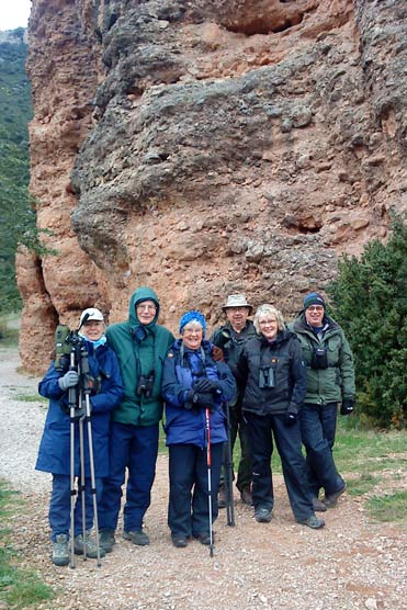 Happy Wallcreeper watchers in Spain