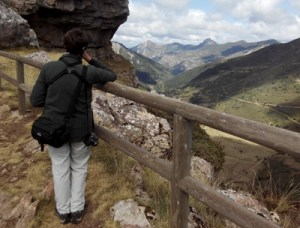 Kath admiring the scenery in Asturias