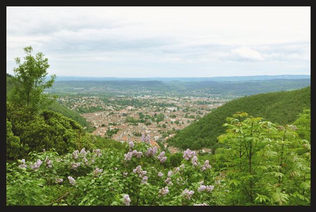 Vue depuis Hautpoul sur Mazamet