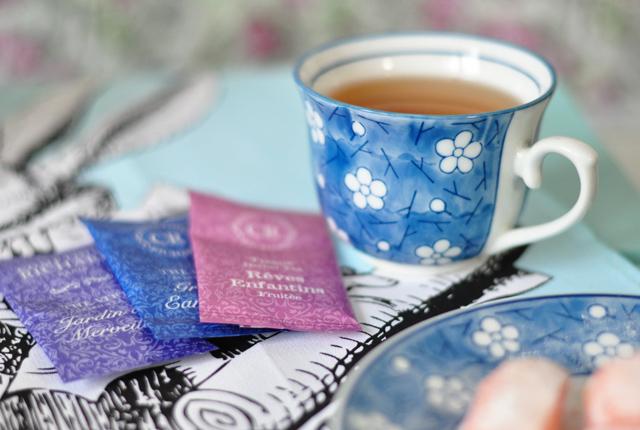 Sachets de thé de la thé box Alice