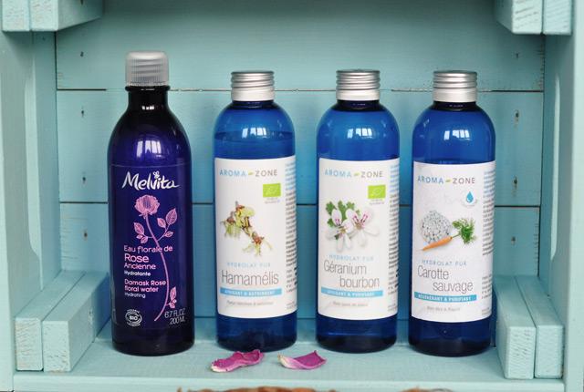 Beauté naturelle: Mes hydrolats et mes huiles