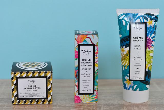 Tests de cosmétiques sur le blog - la marque Baija