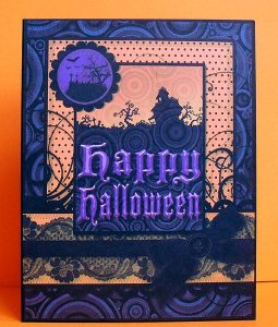 halloween printed card