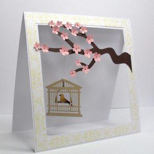 cherry blossom cage card