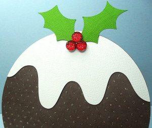 Christmas Pudding Easel Card 3