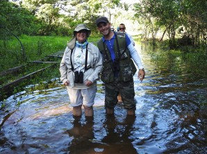 Gina and Maydiel on their way to see Zapata endemics - just another walk in the park! (Photo by Erika Gates)