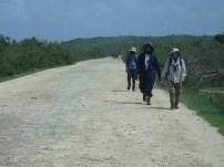 Team 'Frank' returning from a morning of surveys, Dwayne Philip, Kelvin 'Biggz' Samuel and Frank Rivera-Milan (Photo by Lenn Isidore)