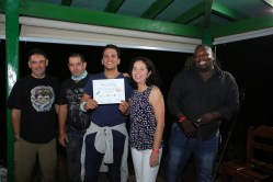 Alejandro Lopez receives his certificate. (photo by Ernesto Reyes)