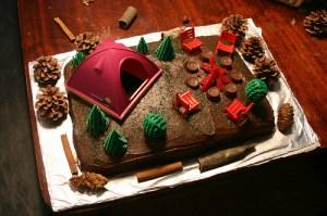 Camping Birthday Cake