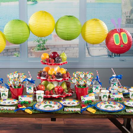 A Very Hungry Caterpillar Party set