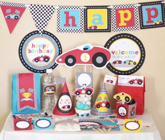 Race Car Party - Racing Birthday Decorations Printable - Instant Download - Racing Car Party