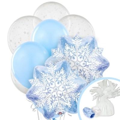Snowflake Winter Wonderland Balloon Bouquet