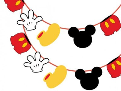 free mickey mouse banner