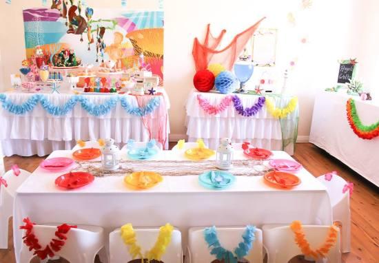 Ariel Mermaid inspired birthday party
