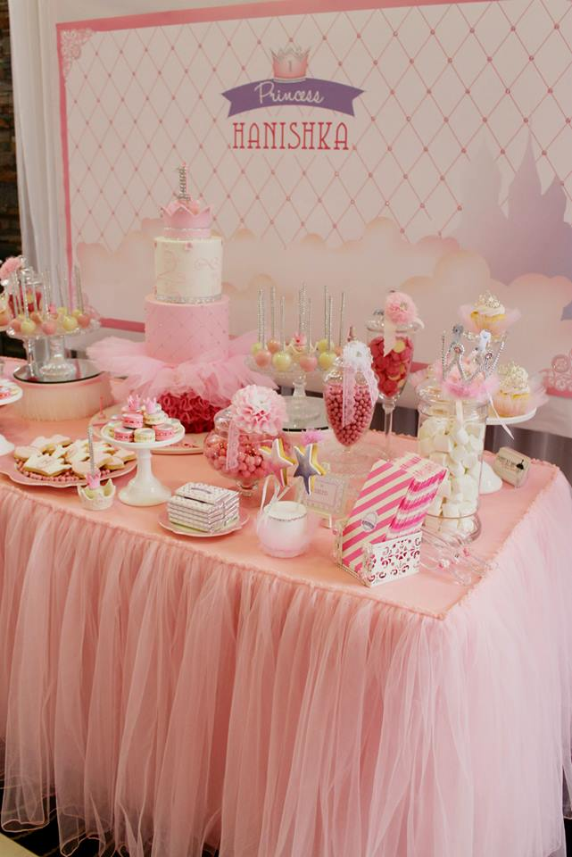 bling princess first birthday party