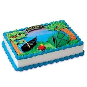 Camping Birthday Party Ideas cake kit
