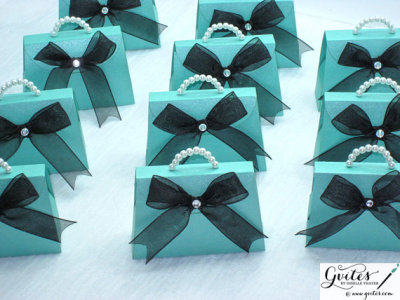 Mini Tiffany Blue Paper Purse - Any Color Paper Purse - Breakfast at Tiffany's Party Favors
