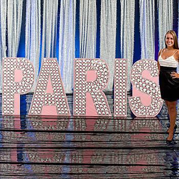 Paris Glittering Diamond Letter Set
