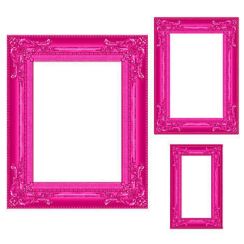Pink Frame Photo Prop Set of 3