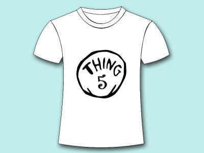 a3 thing 1 thing 2 iron on shirt