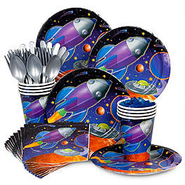 space party tableware