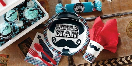Mustache Birthday Party Ideas tableware