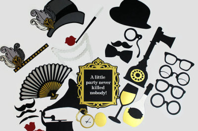 Great Gatsby 1920's Inspired Photobooth Props