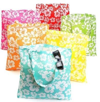 Hibiscus Hawaiian Luau Pool Party Tote Bags