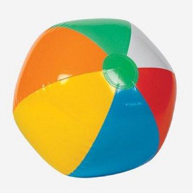 Inflatable 12 Rainbow Color Beach Balls