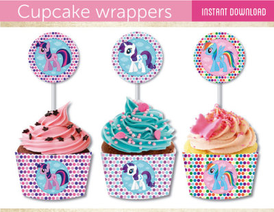 My little pony, Cupacke wrappers