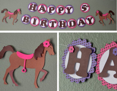 Pony Birthday Supplies, Horse Birthday Party Supplies