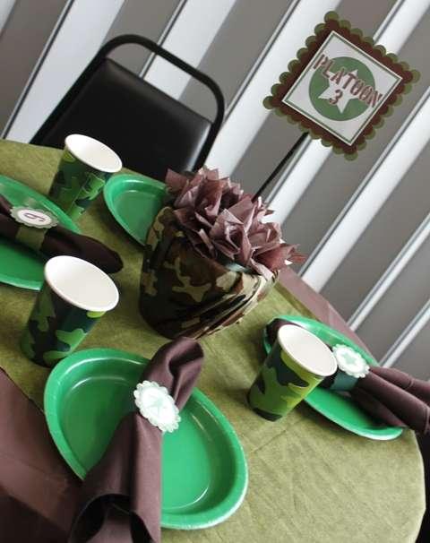 Army Camo Themed Birthday Party Birthday Party Ideas