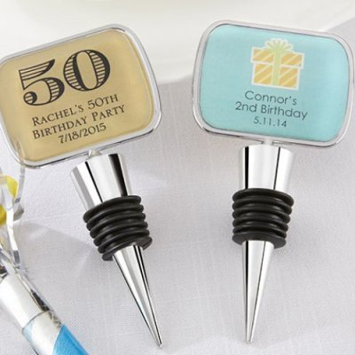 50th adult Personalized Birthday Bottle Stopper