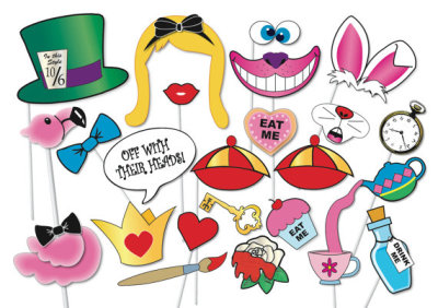 Alice in wonderland Party Photo booth Props Set