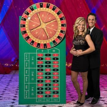 Casino Spinning Roulette Wheel