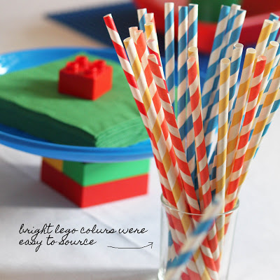 Lego Themed Birthday Party bright lego colors