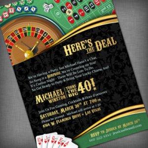 Party, Casino, Game Night invitation