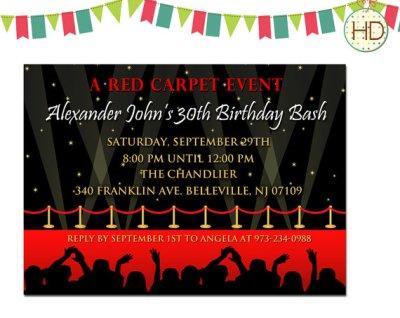 hollywood themed birthday party ideas  birthday party ideas  shops, party invitations