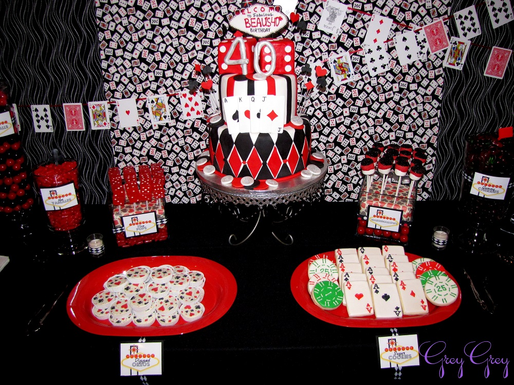 40th las vegas casino birthday party birthday party for 40th birthday decoration