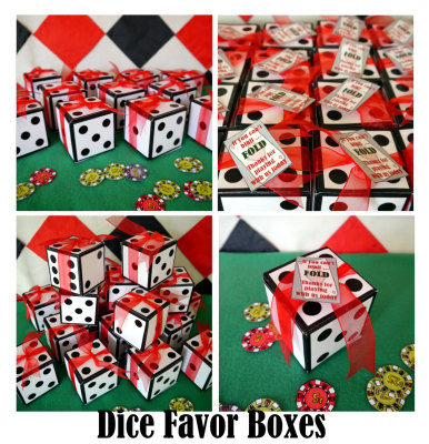 dice favor box or invitation box