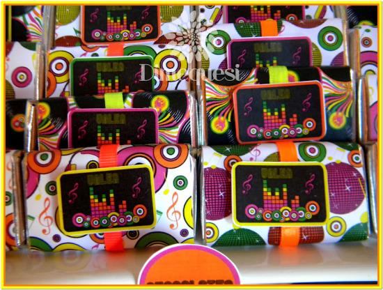 fiesta-disco-birthday-party-ideas-chocolate-wrapper