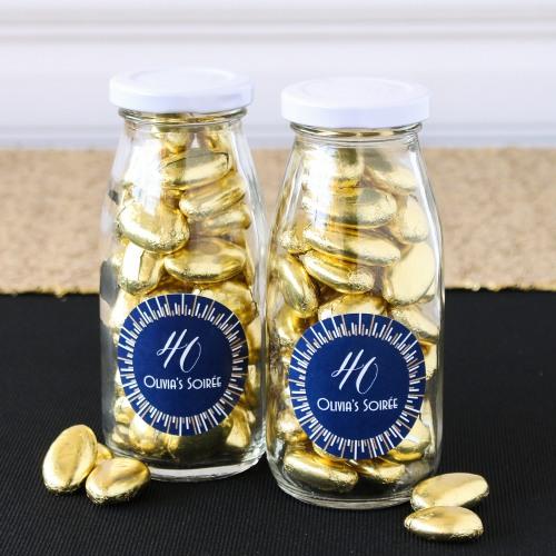 gold Milk Jars and Straws