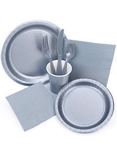 silver hollywood party supplies