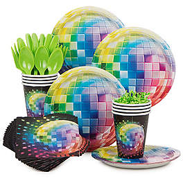tableware for disco party
