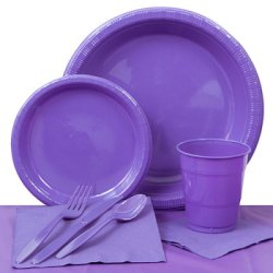 urple Plastic Party Pack